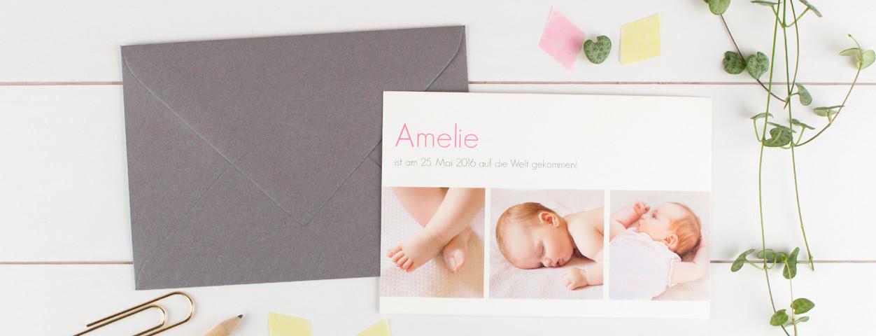babykarte gestalten