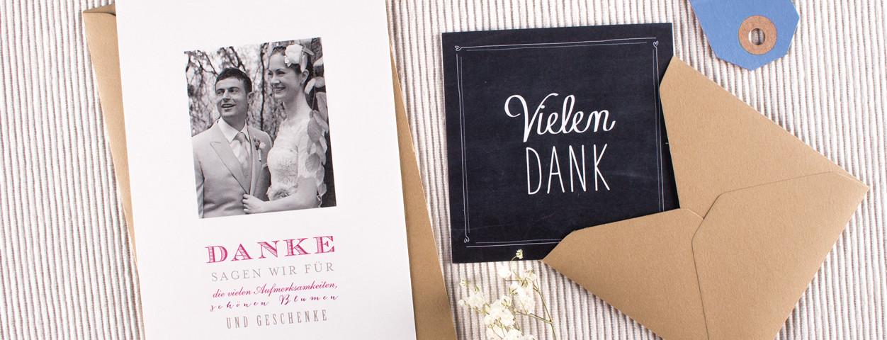 Danksagung Hochzeit, Dankeskarte Hochzeit