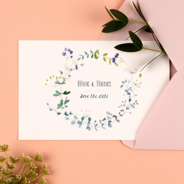 Save-the-Date Wildblume